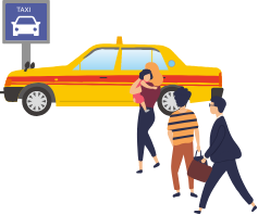 タクシーの待ち人数カウント