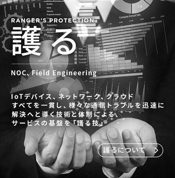 護る NOC、Foeld Engineering IoTデバイス、ネットワーク、クラウドすべてを一貫し、様々な通信トラブルを迅速に解決へと導く技術と体制による、サービスの基盤を「護る技